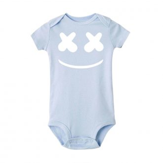 DJ Baby Romper Marshmello licht blauw jongens